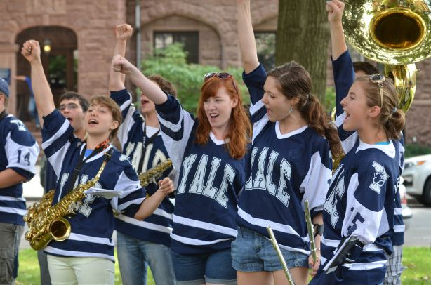 Marching Band In Yale Apparel