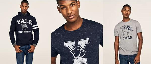Man wearing Licensed Yale Products